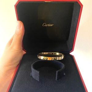 Cartier Jewelry - Cartier 18k yellow gold love bracelet